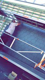 Réalisation d'une plate forme et d'un pignon chez un client avec isolation